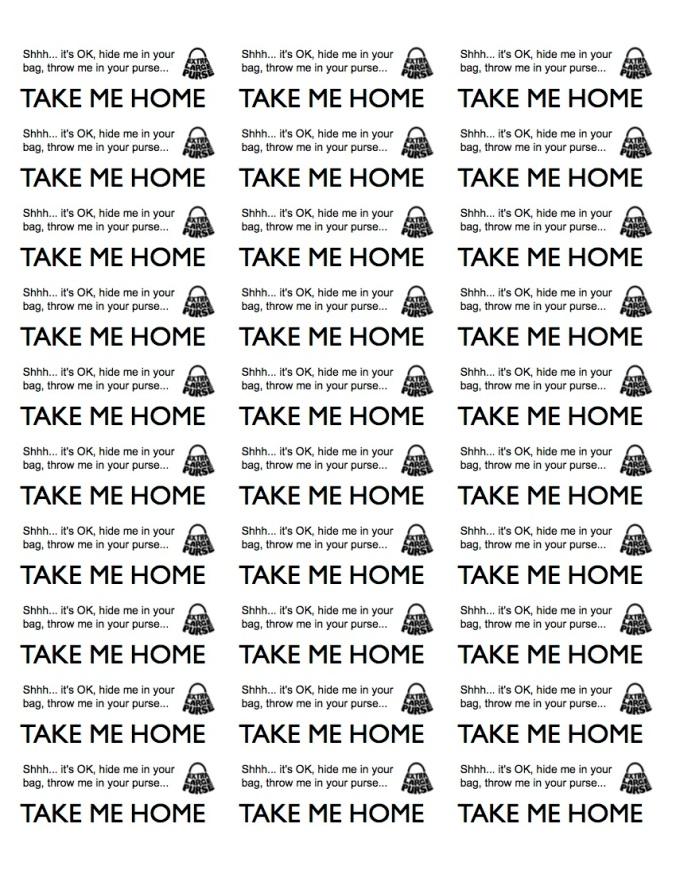TAKE ME HOME STICKERS