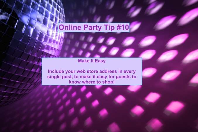 Party Tip #10