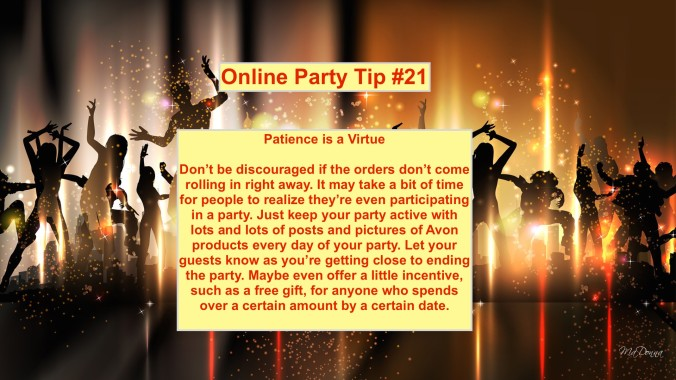 Party Tip #21